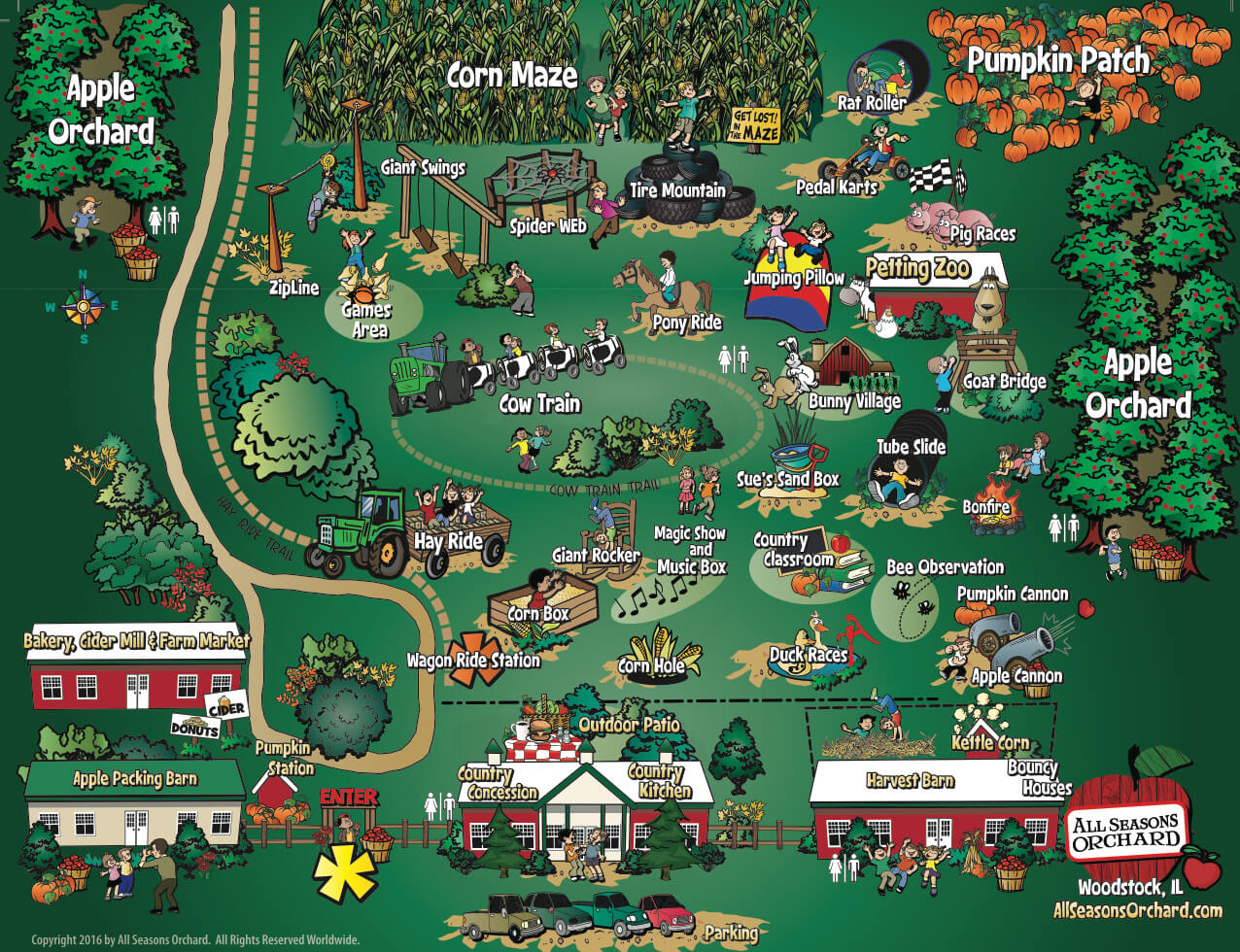 All Seasons Orchard Map