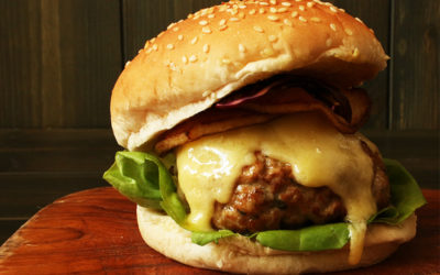 Pork and Apple Cheddar Cheeseburger