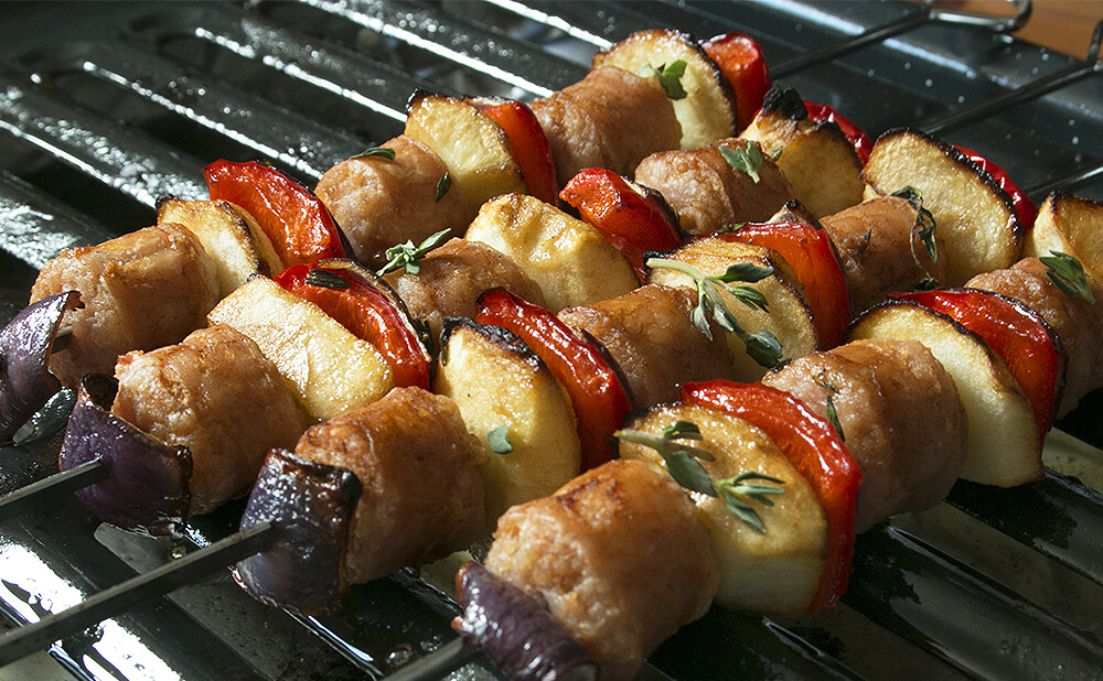 Sausage and Apple Kabobs